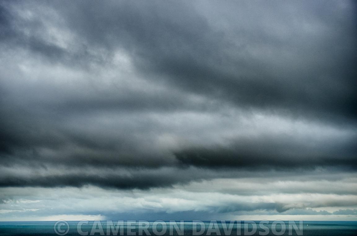 Aerial USA Florida Miami Storm