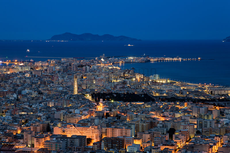Elevated View of Trapani at Dawn