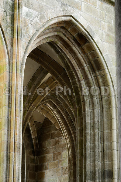 FRANCE, MANCHE, LE MONT-SAINT-MICHEL, ABBAYE//France, Normandy, Manche, Le Mont-Saint-Michel, The Abbey