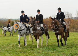 Clare Bell, Sara Hercock and Dick Wise - The Cottesmore Hunt at Dene Bank Farm 3-12