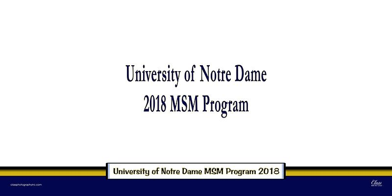 Notre Dame MBA/MSA/MSM 2018 Panoramic Photos