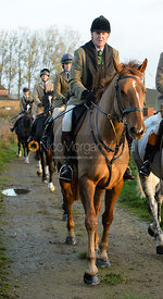 Nick Townsend leaving the meet - The Cottesmore Hunt at the kennels 21/10