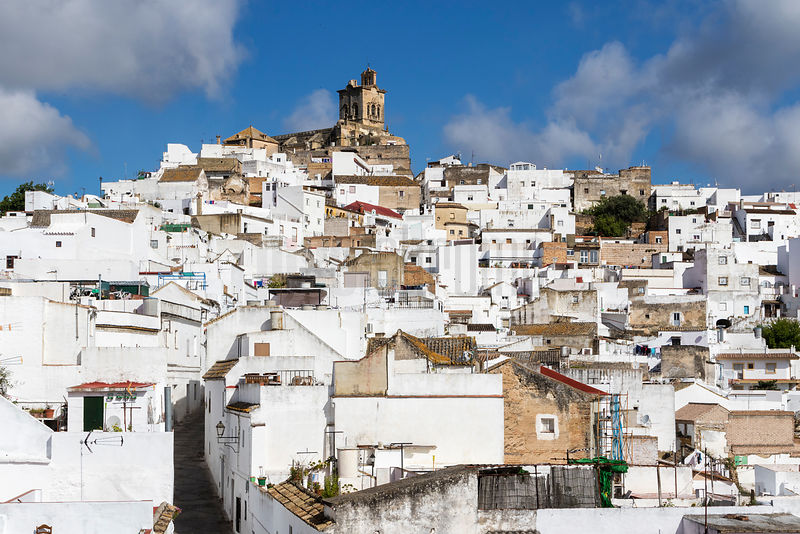 The White Town of Arcos de la Frontera from the East Side