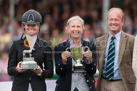 Sinead Halpin - prizegiving ceremony - Land Rover Burghley Horse Trials 2012.