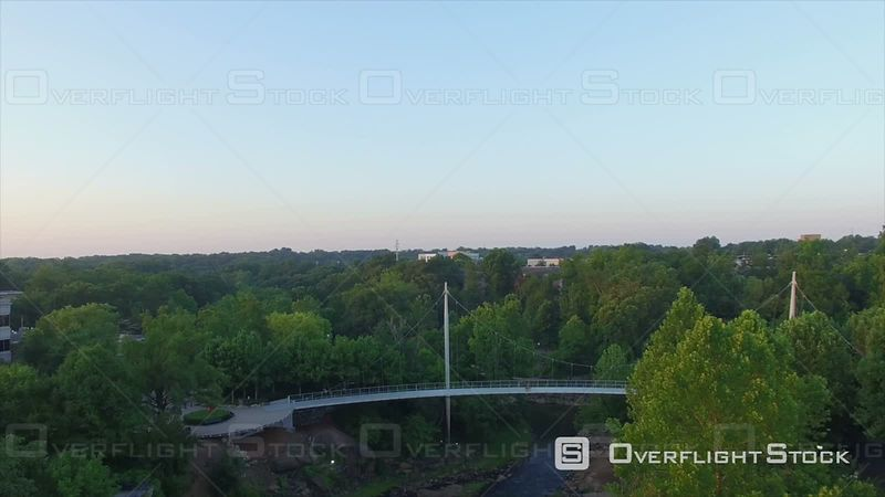 Evening Aerial Over Greenville South Carolina