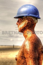 Antony Gormley's Health & Safety Iron Man