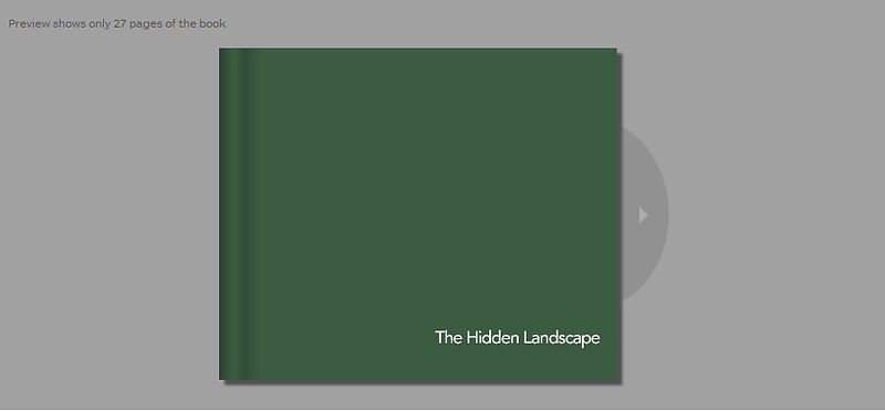 The Hidden Landscape limited edition hardback book £9.99 photos