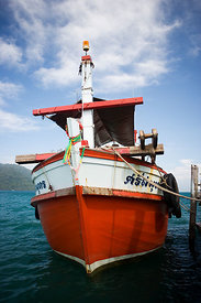Bright Red fishing boat