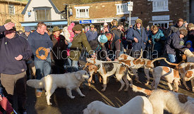 Cottesmore hounds at the meet in Oakham