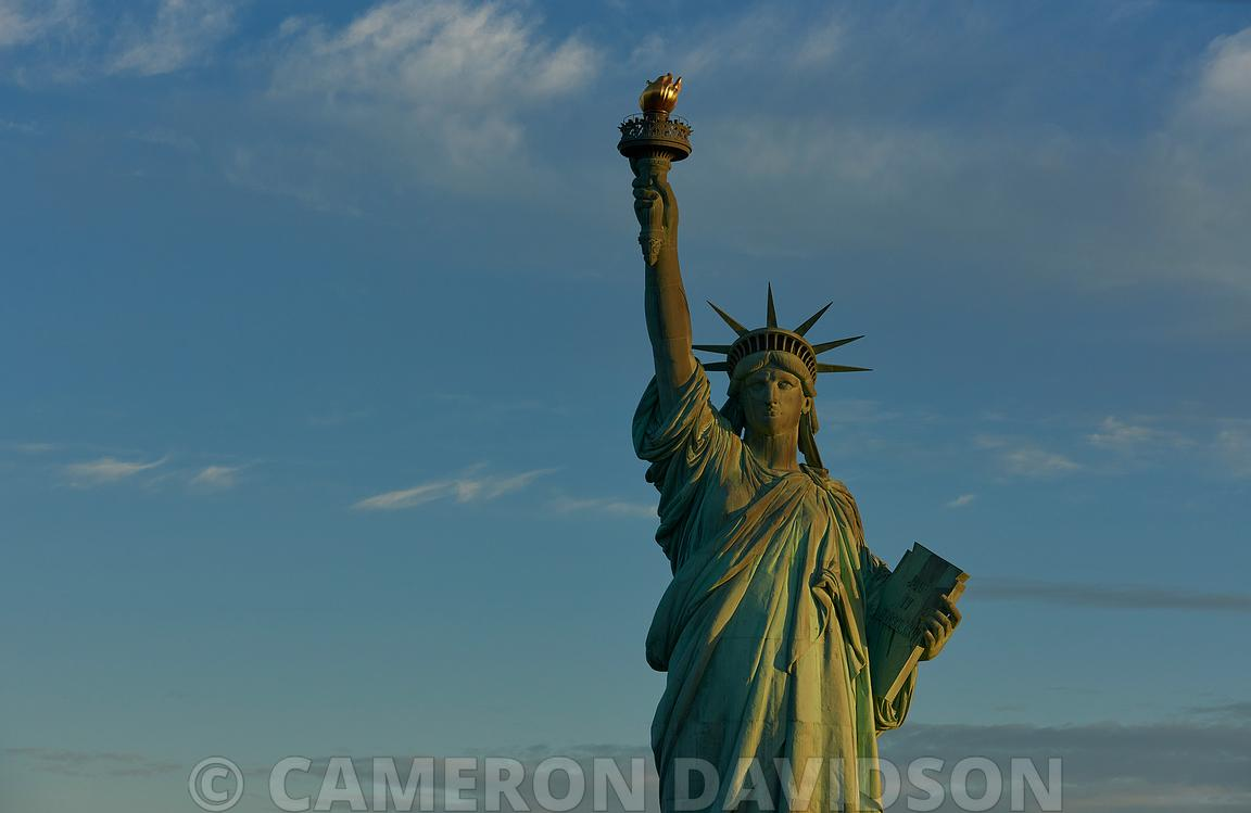 Aerial New York Statue of Liberty
