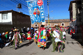 Dance group from Arapa village, Virgen de la Candelaria festival, Puno, Peru