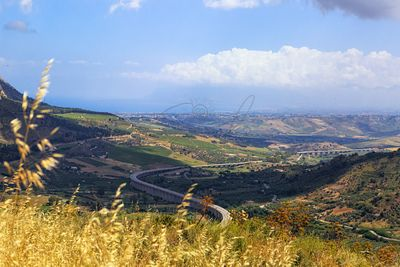 View From Segesta Overlooking Valley Below