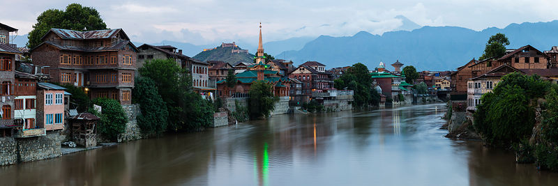 Old Town Srinagar and the Indus River