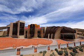 View of the Museum of the Democratic and Cultural Revolution, Orinoca, Bolivia