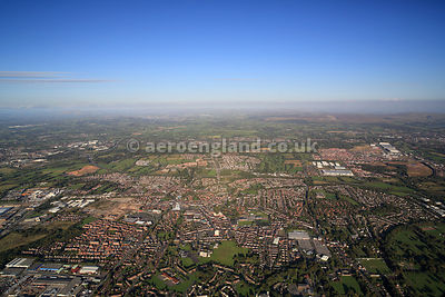 aerial photograph of Leyland