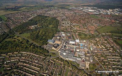 aerial photograph of Corby Northamptonshire England UK