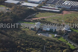 Bromborough aerial photograph of Riverside Park new office and business park development