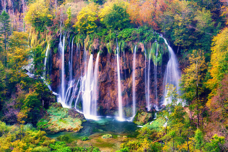 Fall at Plitvice Lakes