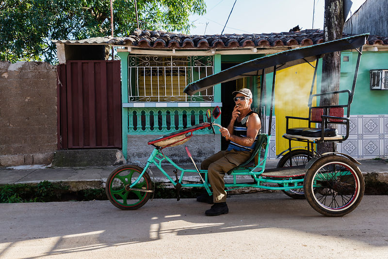 Portrait of a Bicitaxi Driver