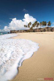 Bottom bay tropical beach in Barbados Caribbean