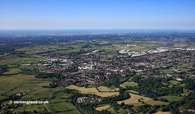 Heywood Greater Manchester from the air