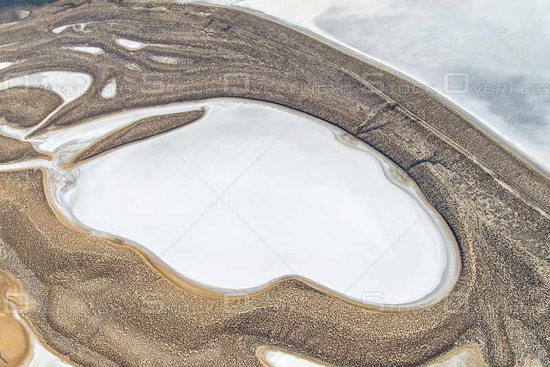Oval Salt Pan Shorelines in the Carizzo Plain, California