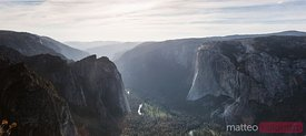 Panoramic of Taft point, Yosemite, USA