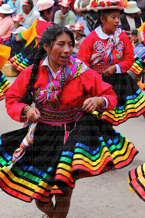 Indigenous dancers from Ilave village at Virgen de la Candelaria festival, Puno, Peru