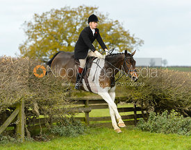 jumping a fence near Gartree Covert