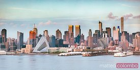 Manhattan skyline at sunset, New York city, USA