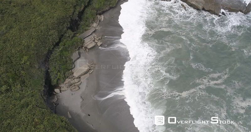 New Punakaiki Ocean Coastline New Zealand