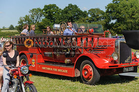 Fire Engine. The parade of classic and vintage cars.