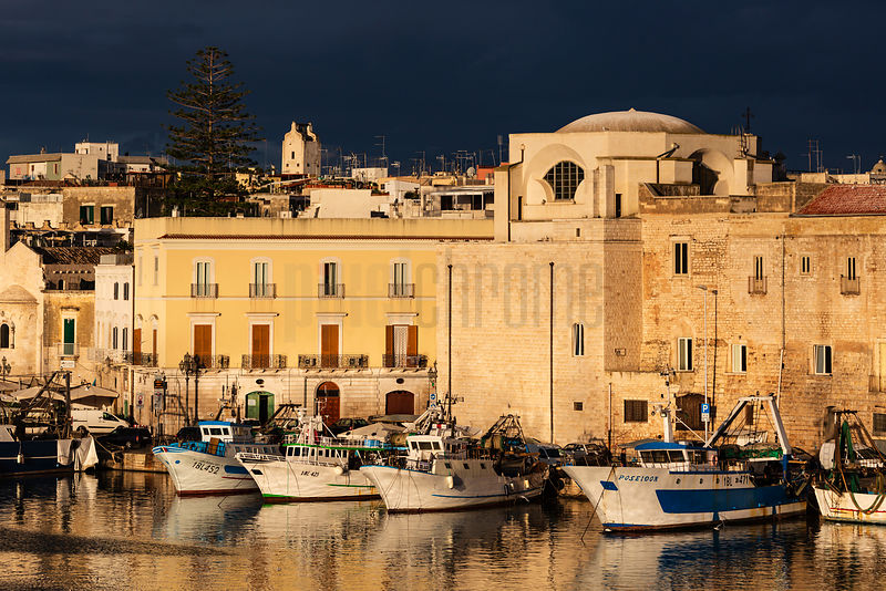 The Harbour at Trani at Sunrise