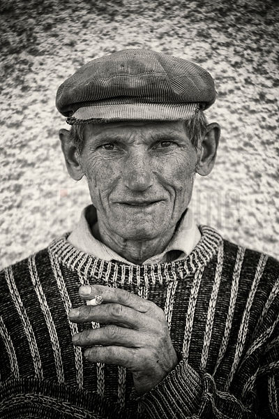 Portrait of a Romanian Man with a Cap