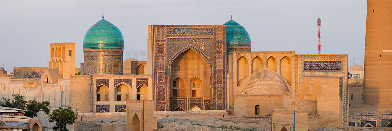 Skyline View of the Old City of Bukhara at Dusk