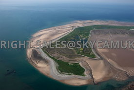 Walney Island aerial photograph looking across the southern tip of the Island out to the irish sea Furness
