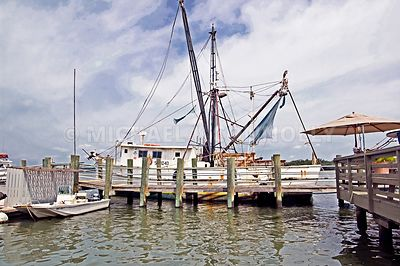 Shrimp Trawler and Dock- Hilton Head South Carolina