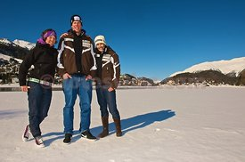 Swiss Ski World Cup Racing Team Members of Family Gisin in Saint Moritz