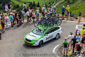 Belkin Team Technical Car in Pyrenees Mountains
