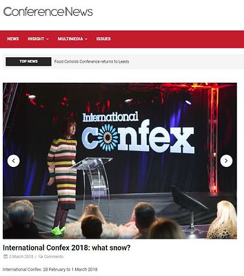 Conference News website gallery - International Confex - February 2018