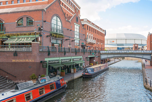 Canals and The NIA, Brindleyplace, Birmingham