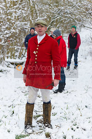 The Cottesmore Hunt on foot in Owston Big Wood, 15/1/13