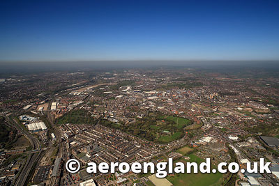 aerial photograph of  Stoke on Trent  Staffordshire England UK