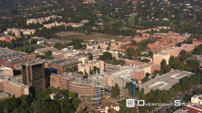 Flying over UCLA campus in Los Angeles.