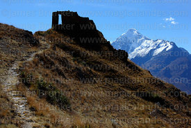 Mt Veronica and Inti Punku / Sun Gate, near Ollantaytambo, Sacred Valley, Peru
