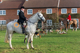 The Belvoir Hunt meet at Sheepwash, near Harby