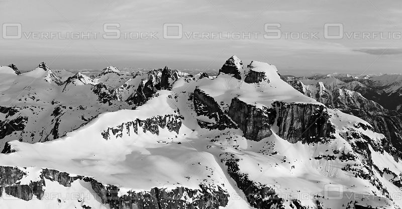 Black and White of Devils Couch Valhalla Park Kootenays BC