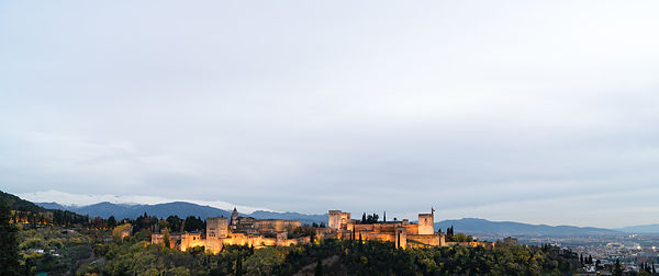 Alhambra palace evening