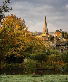 Autumn morning at Bakewell. Peak District Photography
