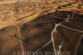 Aerial photograph of a Northern California Windfarm.